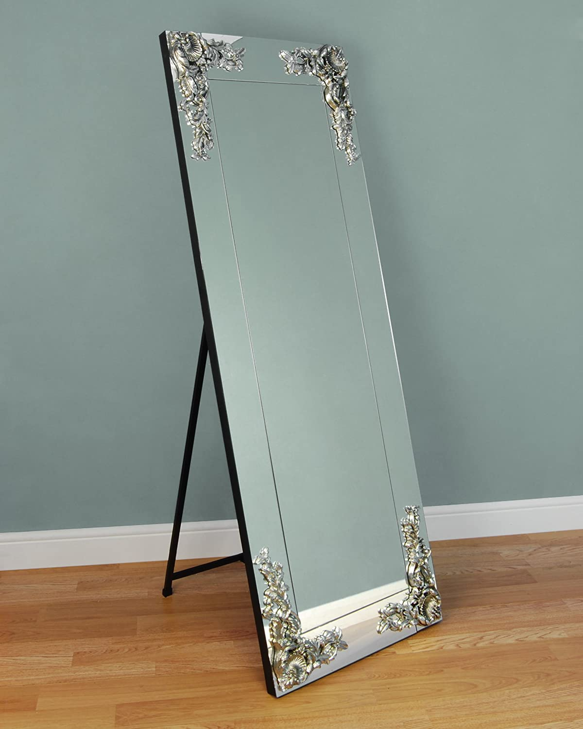 Amazon the chandelier mirror company the chandelier mirror company cm stansted large rectangular frameless cheval freestanding mirror aloadofball Image collections