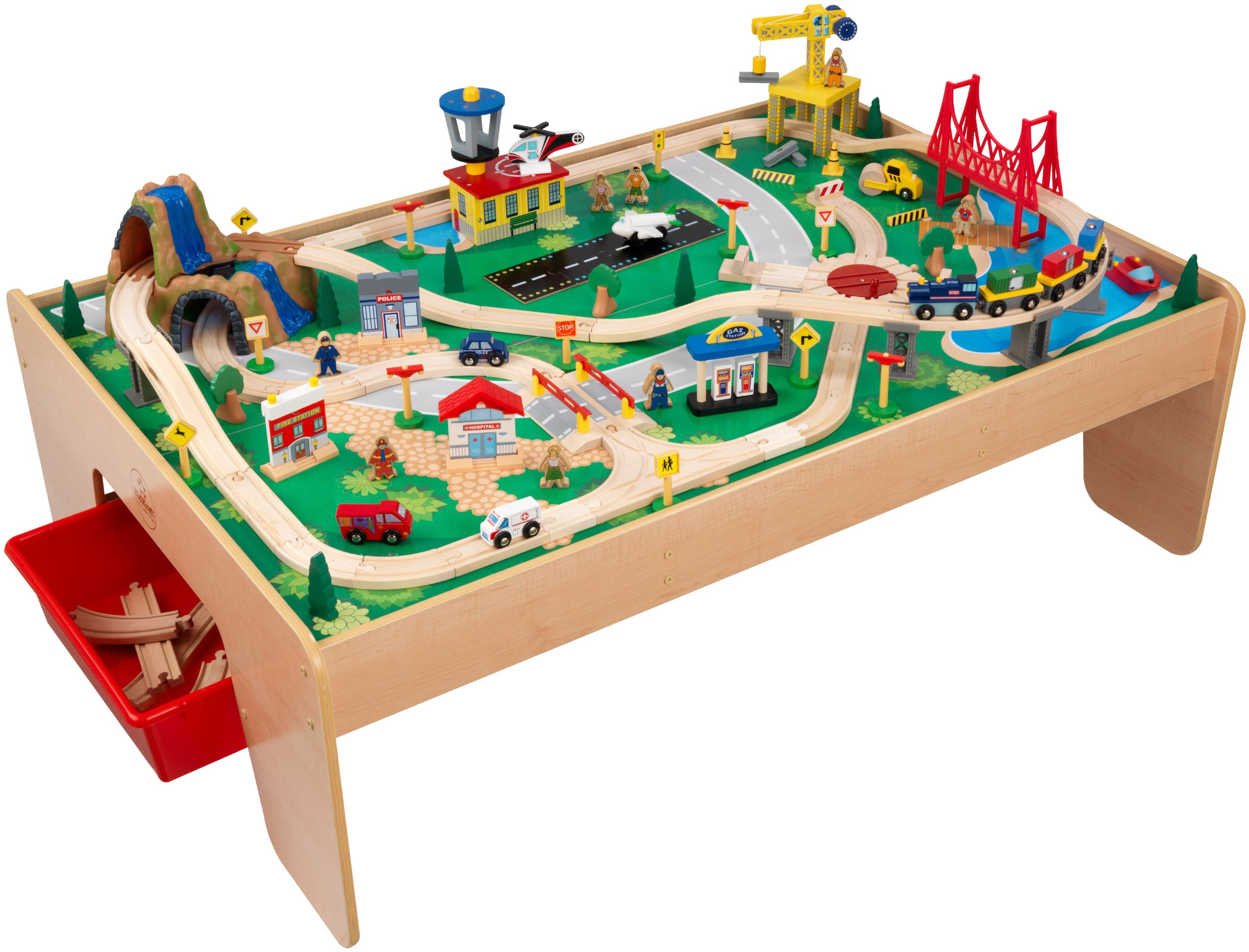 Exceptionnel 120pc Waterfall Mountain Train U0026 Table Kids Creative Toy Boys Birthday Fun  Gift