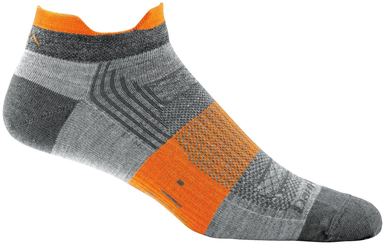 Darn Tough Juice No Show Tab Light Sock - Men's Gray Large
