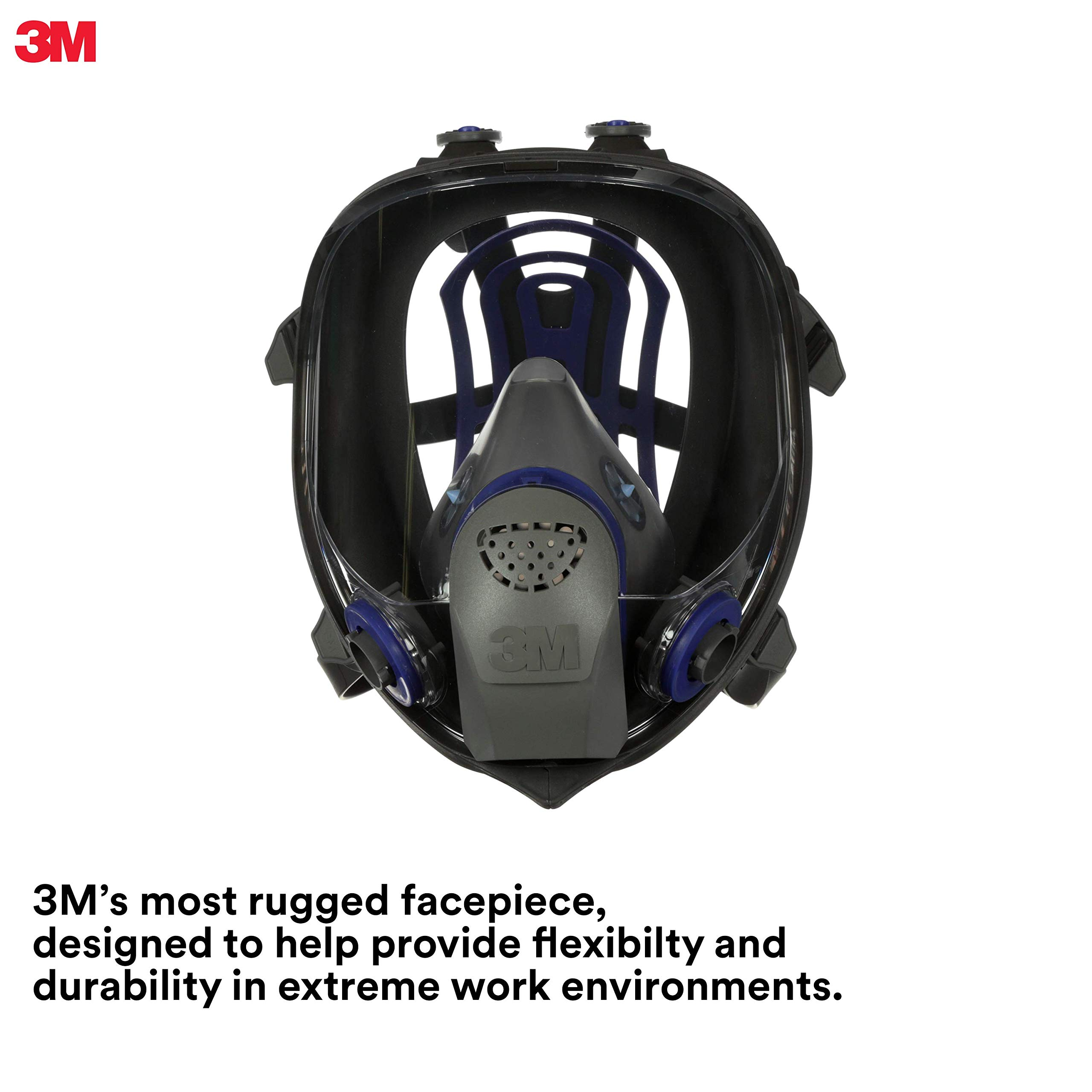 3M Ultimate FX Full Facepiece Reusable Respirator FF-402, Mold, Painting, Sanding, Chemicals, Gases, Dust, Medium by 3M Personal Protective Equipment