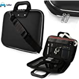 FunBlast Laptop Messenger Bag, Upto 15.6 inch, Tablet and Executive Office Bag, Briefcase Water Repellent Computer Case Sleeve for College/School/Business/Women/Man, Checkpoint Friendly Laptop Bag, Available in 5 Different colors (Black)