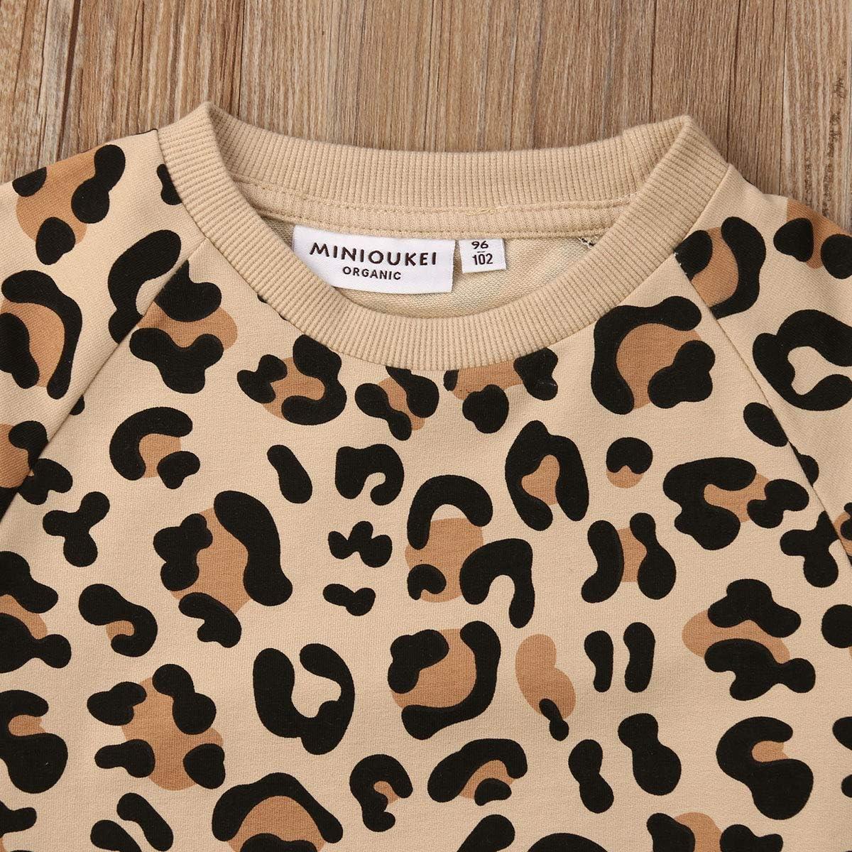 CHRONSTYLE Jungen M/ädchen Baumwolle Pullover Fr/ühling Herbst Hoodie Leopardenmuster Hoodie Unisex Baby Langarmshirts1-7 Jahre