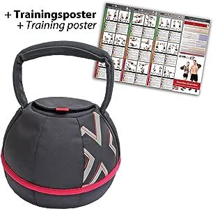 GYMBOX® Bolsa de Arena/Pesas Rusas/Kettlebell/Fitness Bag/Power Bag | Entrenamiento Muscular/Funcional/de Pesas Libres | está llenado con Arena | Negro, 4 kg | llenado: Amazon.es: Deportes y aire libre