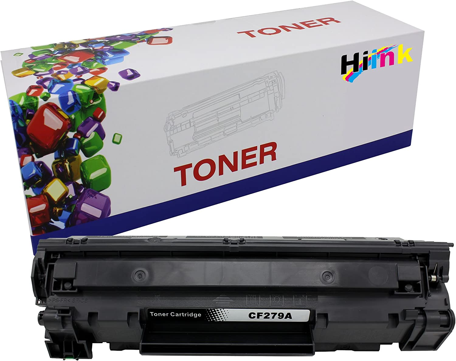 HIINK Compatible Toner Cartridge Replacement for HP CF279A 79A Toner Cartridge for Laserjet Pro M12a M12w MFP M26a M26nw Printer(Black, 1-Pack)