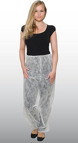 10 pieza – Pantalón – – Desechable de pantalón – blanco ...