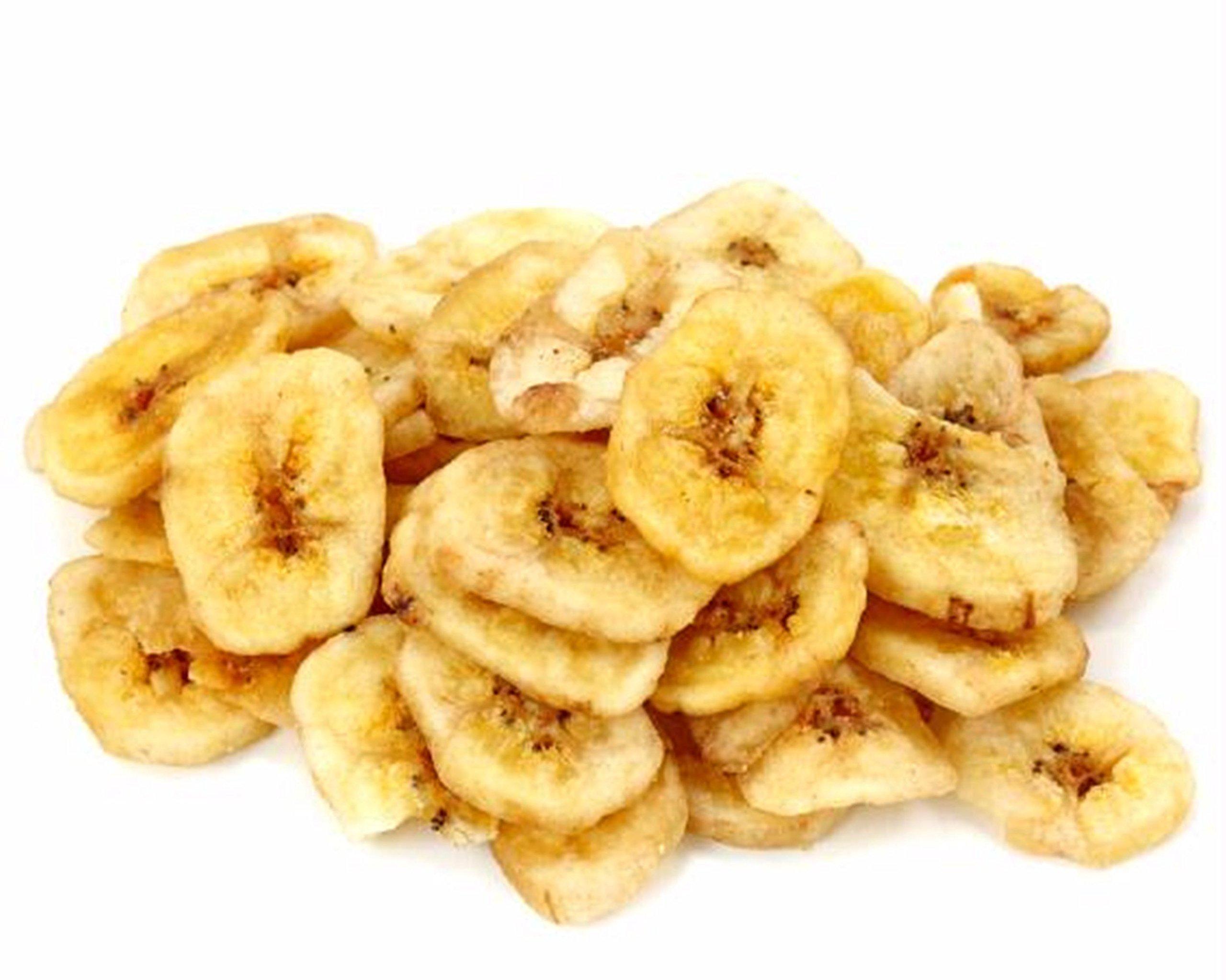Fuzzy Ducks Gourmet Confections Dried Banana Chips (2/1 Pound Bag) Bulk Snacks Dried Fruit Potassium Rich Foods