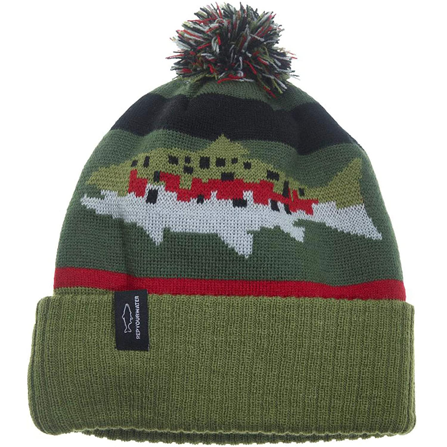 0e9d59f08e748 Rep Your Water Digi Bow Knit Hat Rainbow Trout - One Size  Amazon.ca   Clothing   Accessories