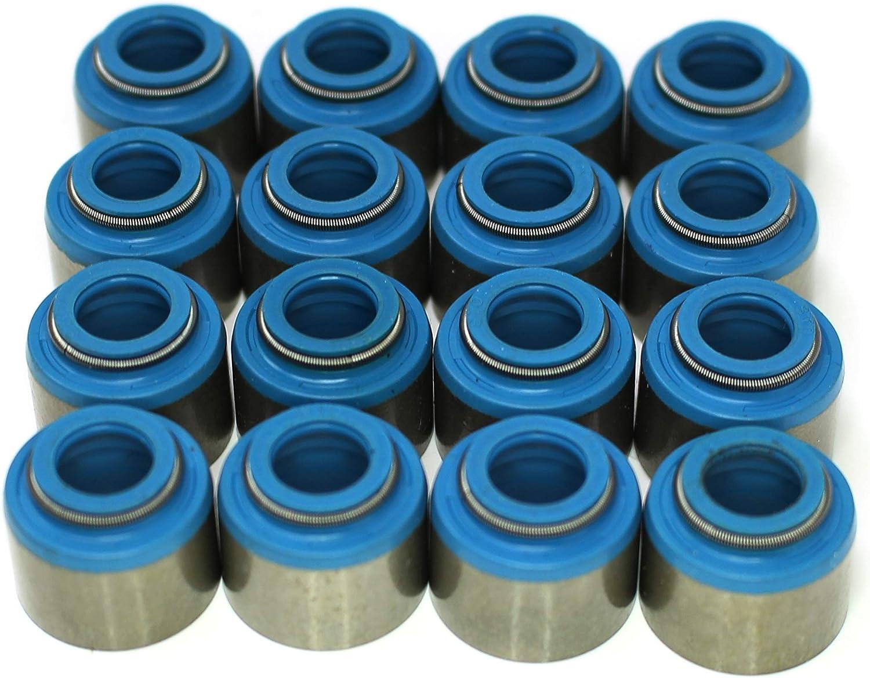 Set of 32 Compatible with Viton SBC BBC SBF BBF Aftermarket Positive Valve Stem Seals 11//32 X .530 METAL CLAD