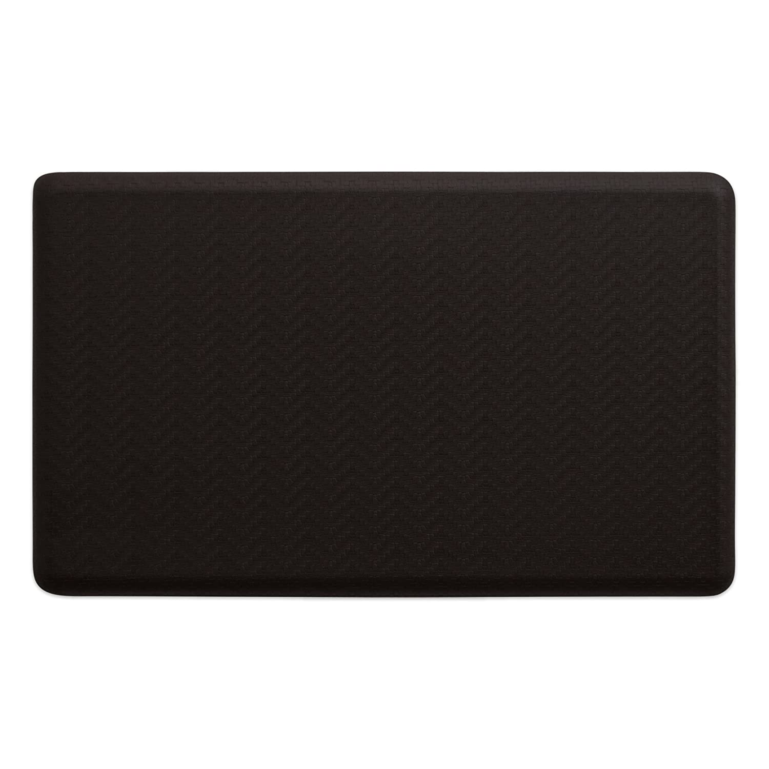 NewLife by GelPro Multi-Purpose Comfort Mat, Grasscloth Charcoal, 18x30-Inch Let' s Gel Inc 817699018489
