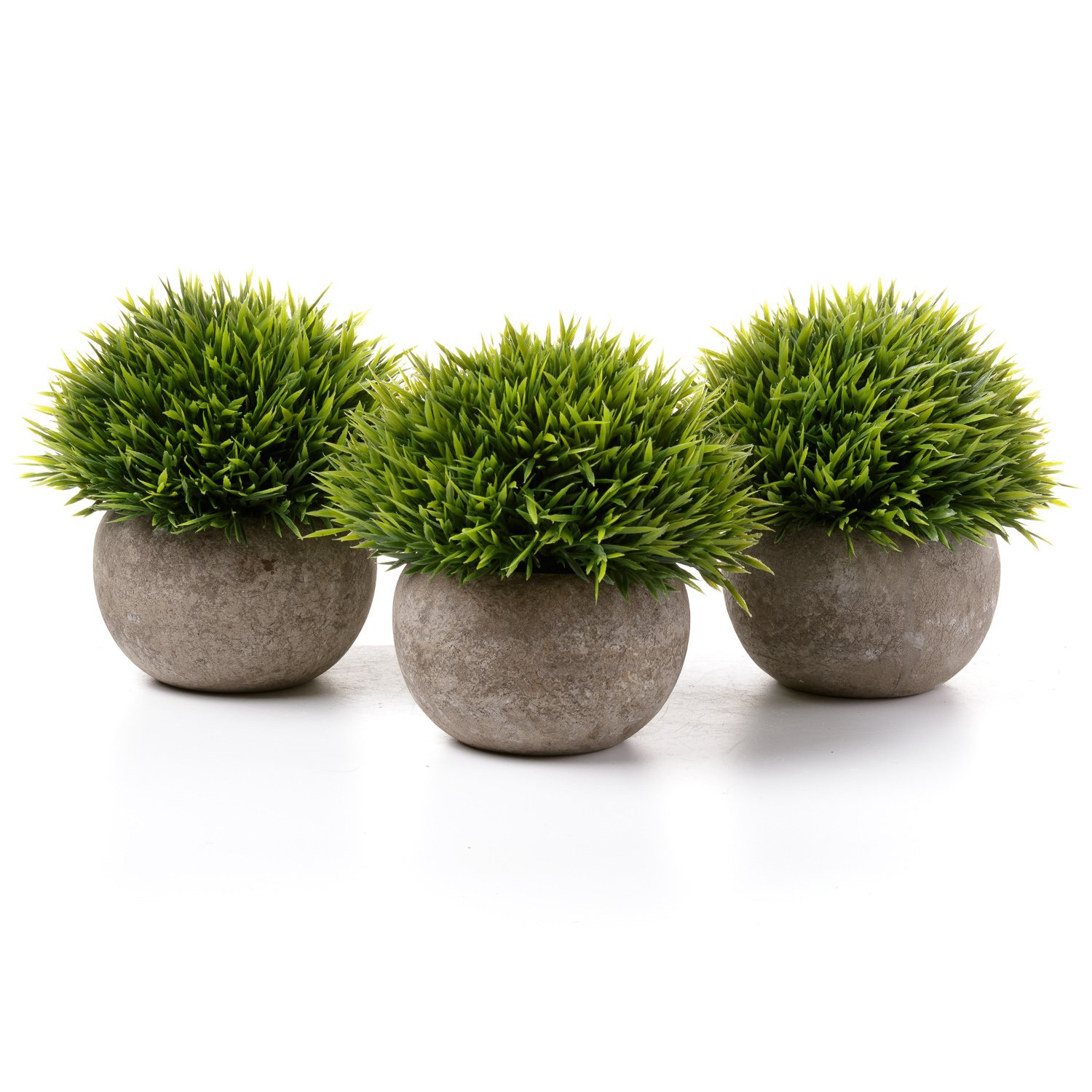 T4U Plastic Artificial Plants Potted Green Plants Multi-Layer Grass for Home/Office Decor
