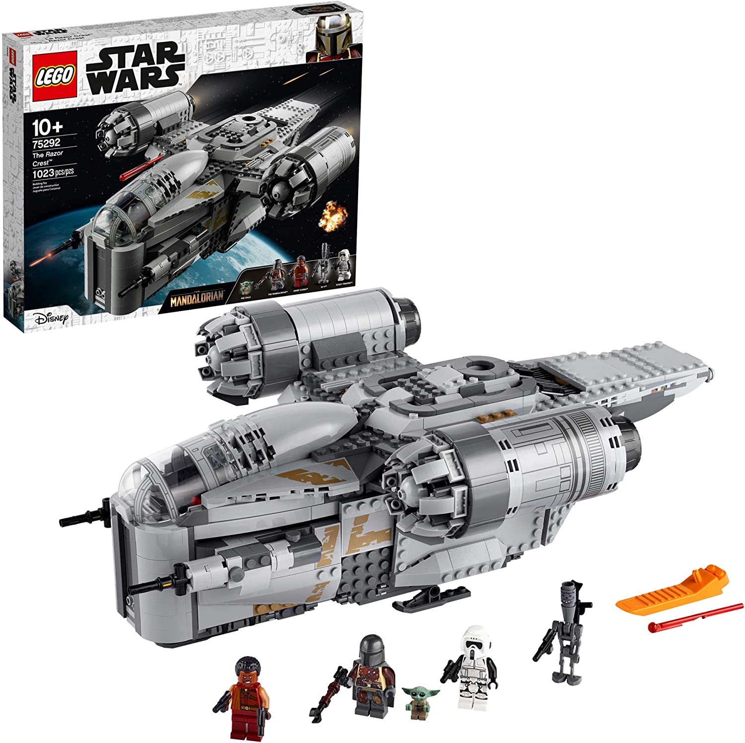 LEGO Star Wars: The Mandalorian The Razor Crest 75292 Building Kit, New 2020 (1,023 Pieces): Toys & Games