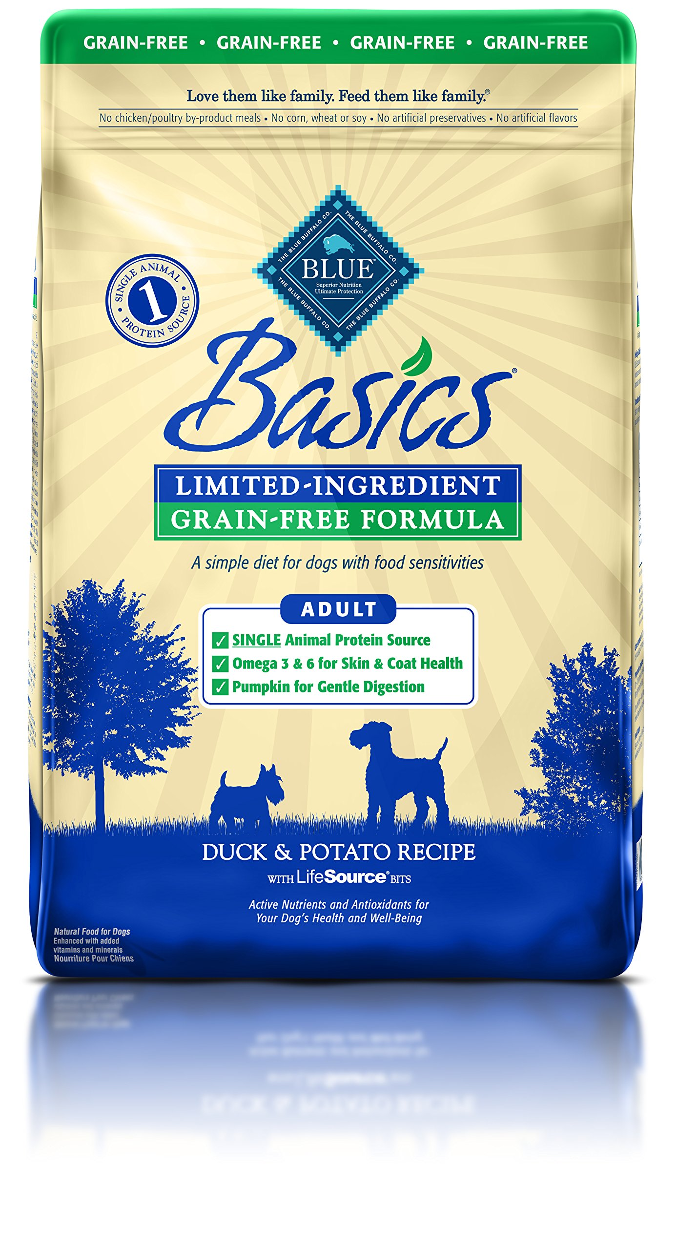 Blue Buffalo Basics Limited-Ingredient Dry Adult Dog Food 22 LB