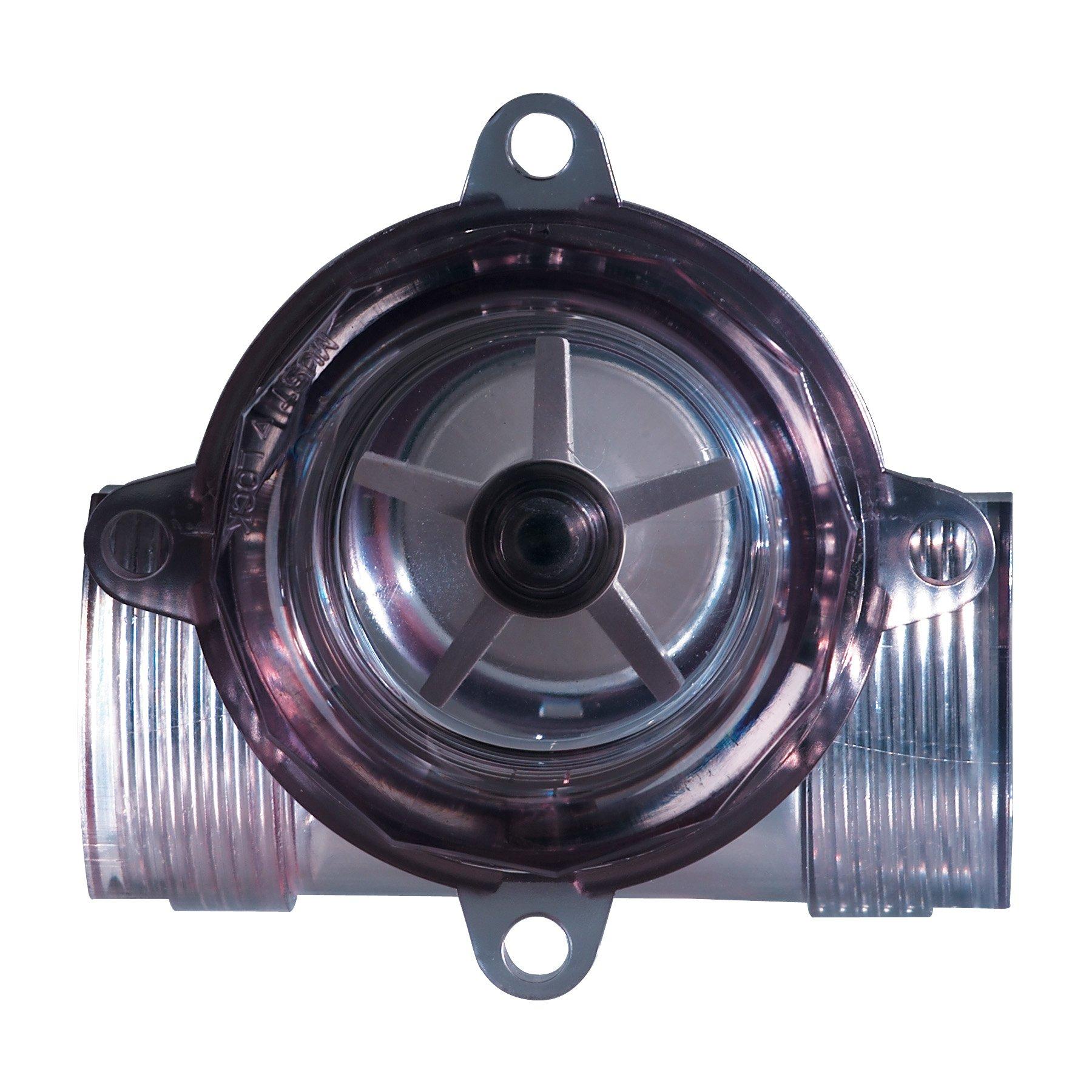 Dwyer W E Anderson Series SFI-800 Sight Flow Indicator, Polysulfone 3/4'' Female NPT Ports, Range 3-35 GPM