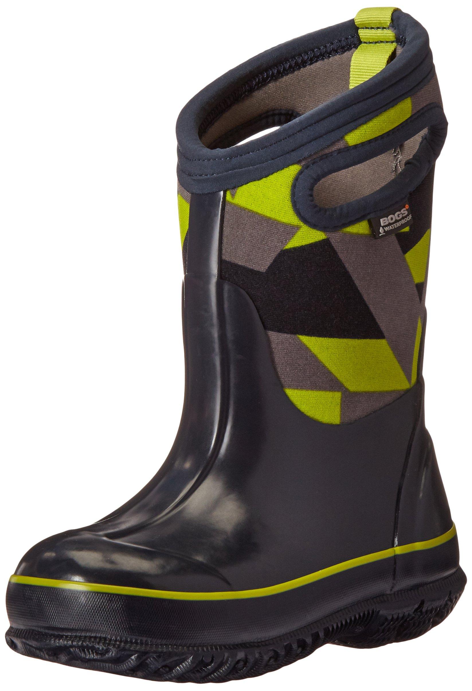Bogs Classic High Waterproof Insulated Rubber Neoprene Rain Boot Snow, Skulls Print/Black/White, 3 M US Little Kid