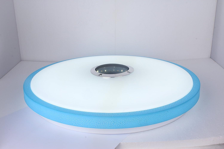 APP Contr/ôle 3000K-6500K Chaud//Froid Blanc Bleu HOREVO /Ø49.5cm 36W Plafonnier Couleur Changeant Variable LED Moderne Plafond Ultraslim Lampe avec T/él/écommande et Bluetooth Haut-Parleur Musique