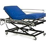 GERIALIFE® Cama articulada geriátrica hospitalaria con carro elevador (105x190 con barandillas y colchon)