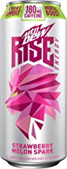 MTN DEW RISE ENERGY, Strawberry Melon Spark, 16 oz Can