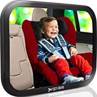 Stable Baby Car Mirror for Back Seat, Baby Mirror for Car - Easy to Install, Shatterproof Wide Crystal Clear View, 100% Lifetime Satisfaction Guarantee, Crash Tested and Certified by COZY GREENS