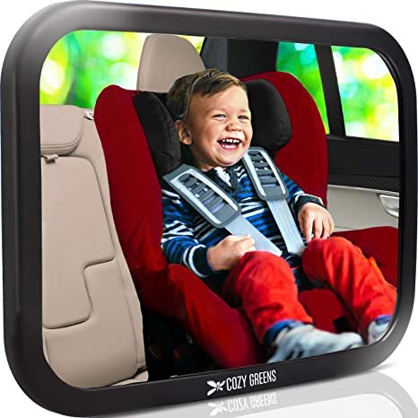 Crystal Clear View of Infant in Baby Car Seat Mirror for Rear Facing Carseat