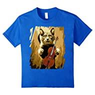Cello Violoncello Cellist Gift Funny Musical T-Shirt Cat