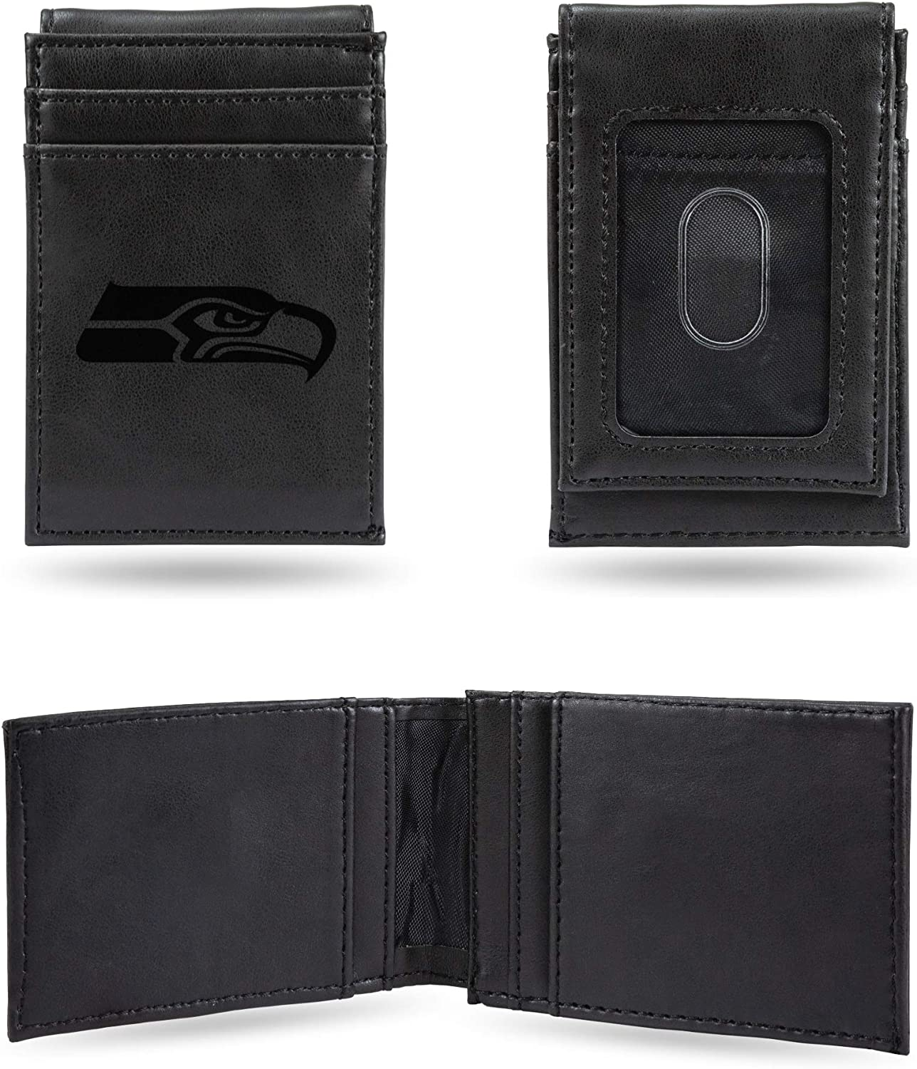 Seattle Seahawks NFL Rico Industries  Laser Engraved Front Pocket Wallet