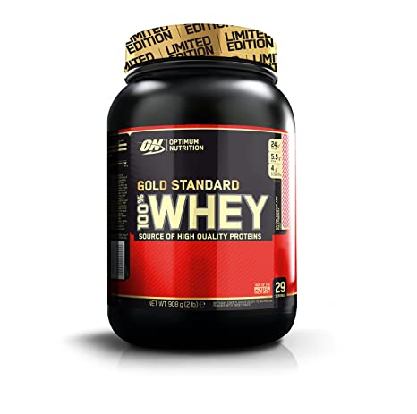 Optimum Nutrition Gold Standard 100% Whey Proteína en Polvo, Chocolate Blanco y Frambuesa,