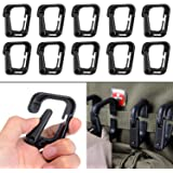 BOOSTEADY Multipurpose D-Ring Locking Hanging Hook Tactical Link Snap Keychain for Molle Webbing with Zippered Pouch by
