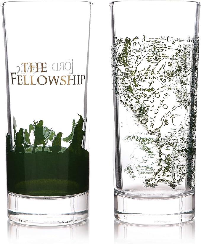 Half Moon Bay GL02LOTR01 Set de 2 Vasos Lord of The Rings, Cristal: Amazon.es: Hogar