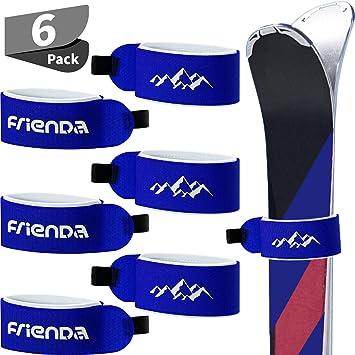 6 St/ück Ski Tr/äger Verschlussband Klettband Verstellbare Ski Wraps Krawatten f/ür Familien Mann Frau