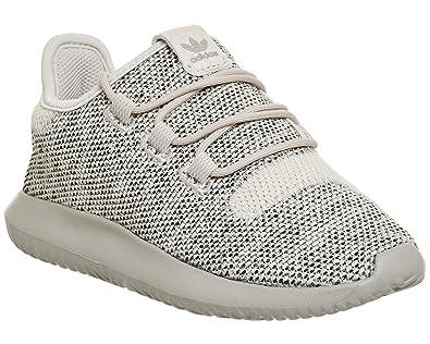 adidas Originals Tubular Shadow C Clear Brown Textile Junior Trainers