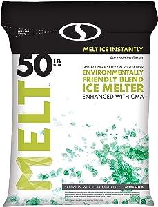 Snow Joe AZ-50-EB Melt-2-Go Nature + Pet Friendly CMA Blended Ice Melter, 50-lb Bag