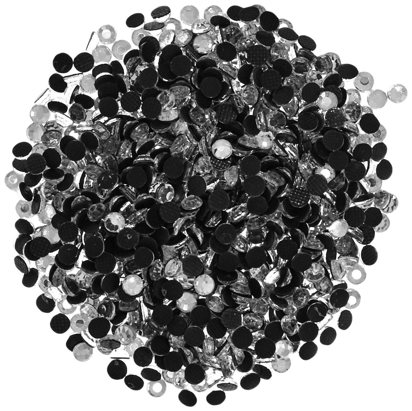 Darice Setter Strass Hot-Fix abbellimenti 3mm 1000/Pkg-cristallo Pietra di vetro 2704-80