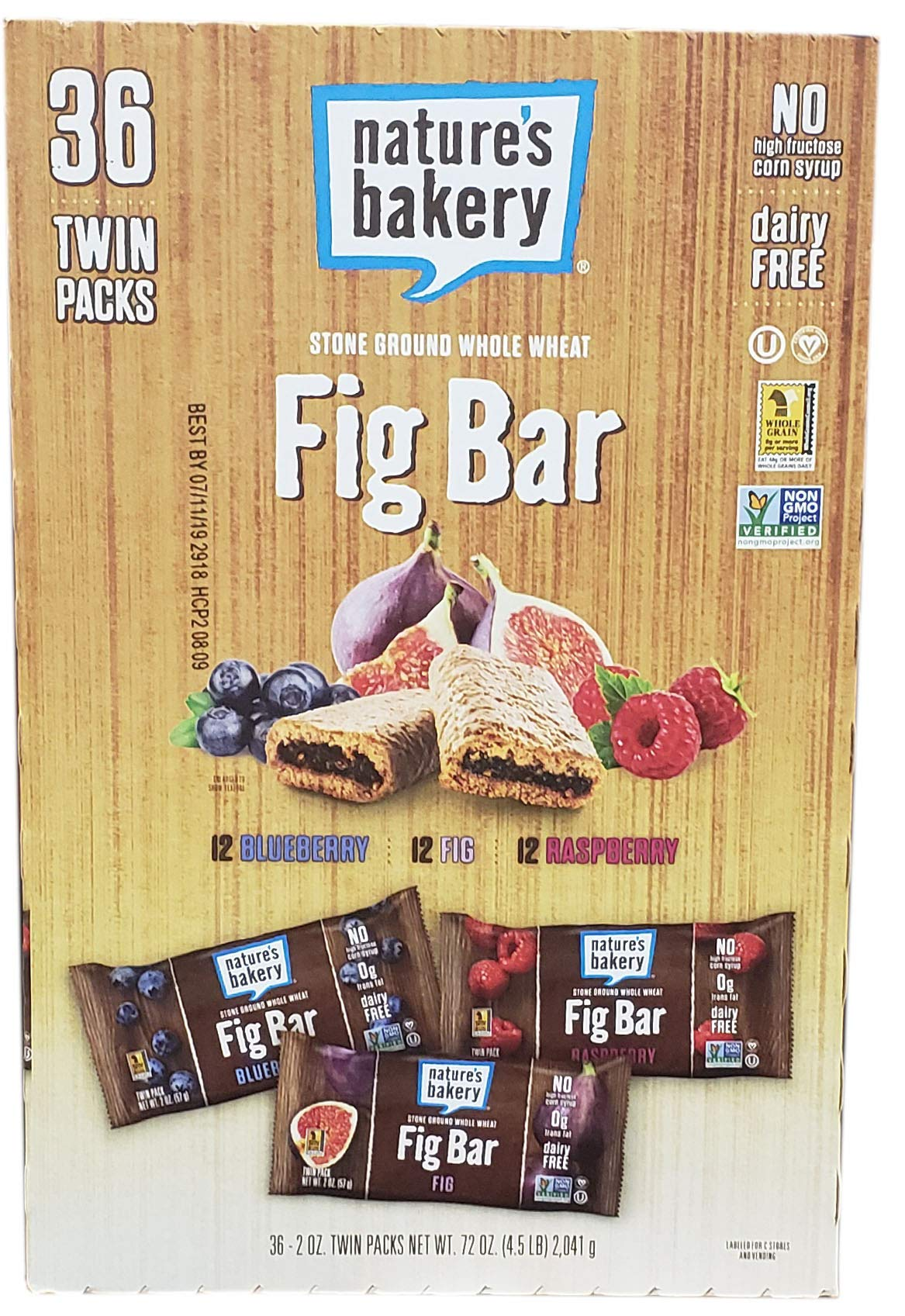 Nature's Bakery Fig bar 36Piece Variety Pack by Nature's Bakery