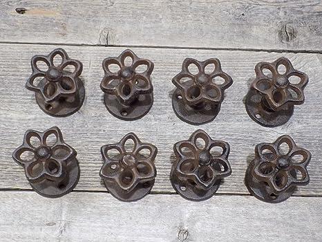 Amazon.com: 8 ganchos para grifo de hierro fundido KNOB ...