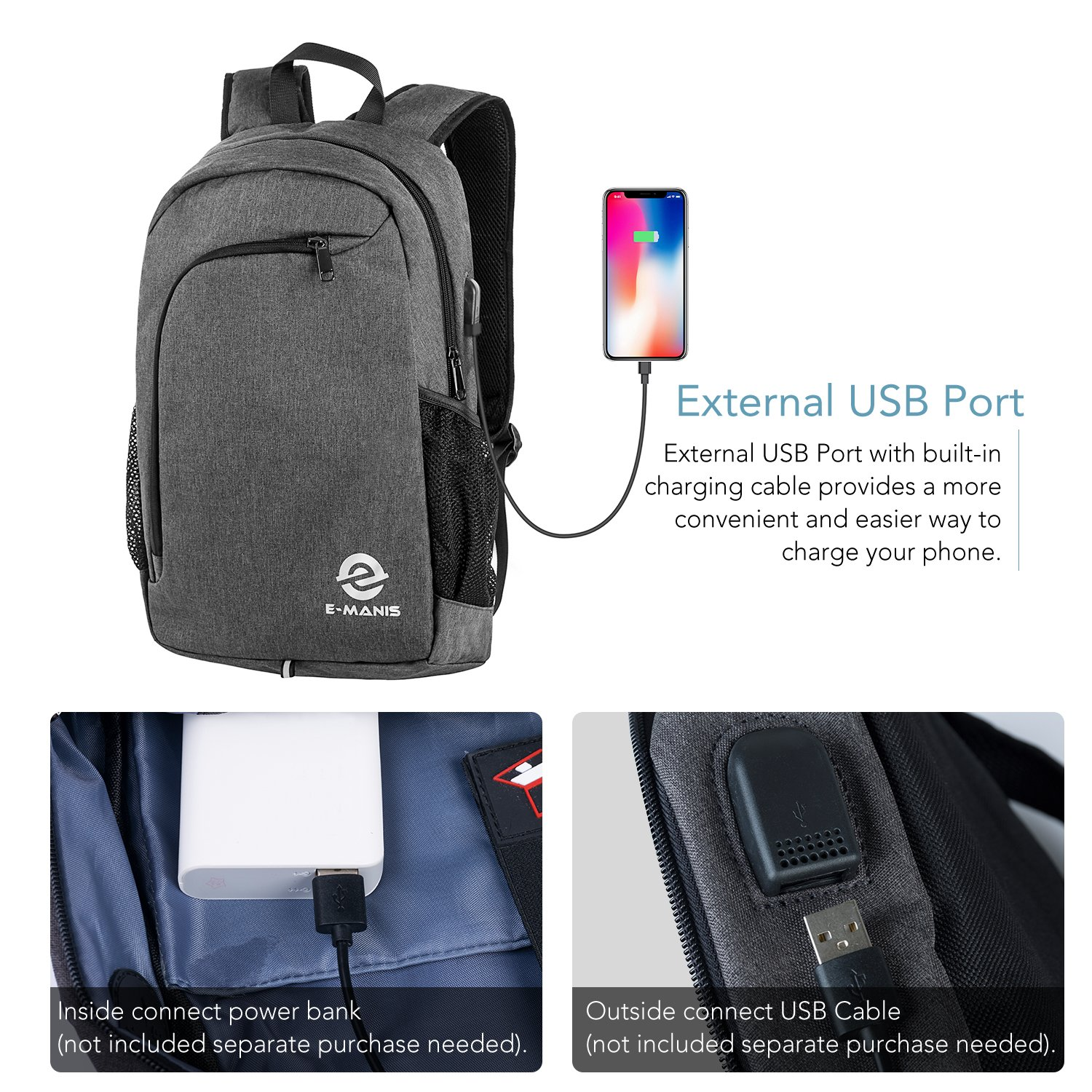 Amazon.com: Laptop Backpack,Business Anti Theft Slim Durable Laptops Backpack with USB Charging Port,Water Resistant College School Computer Bag for Women ...