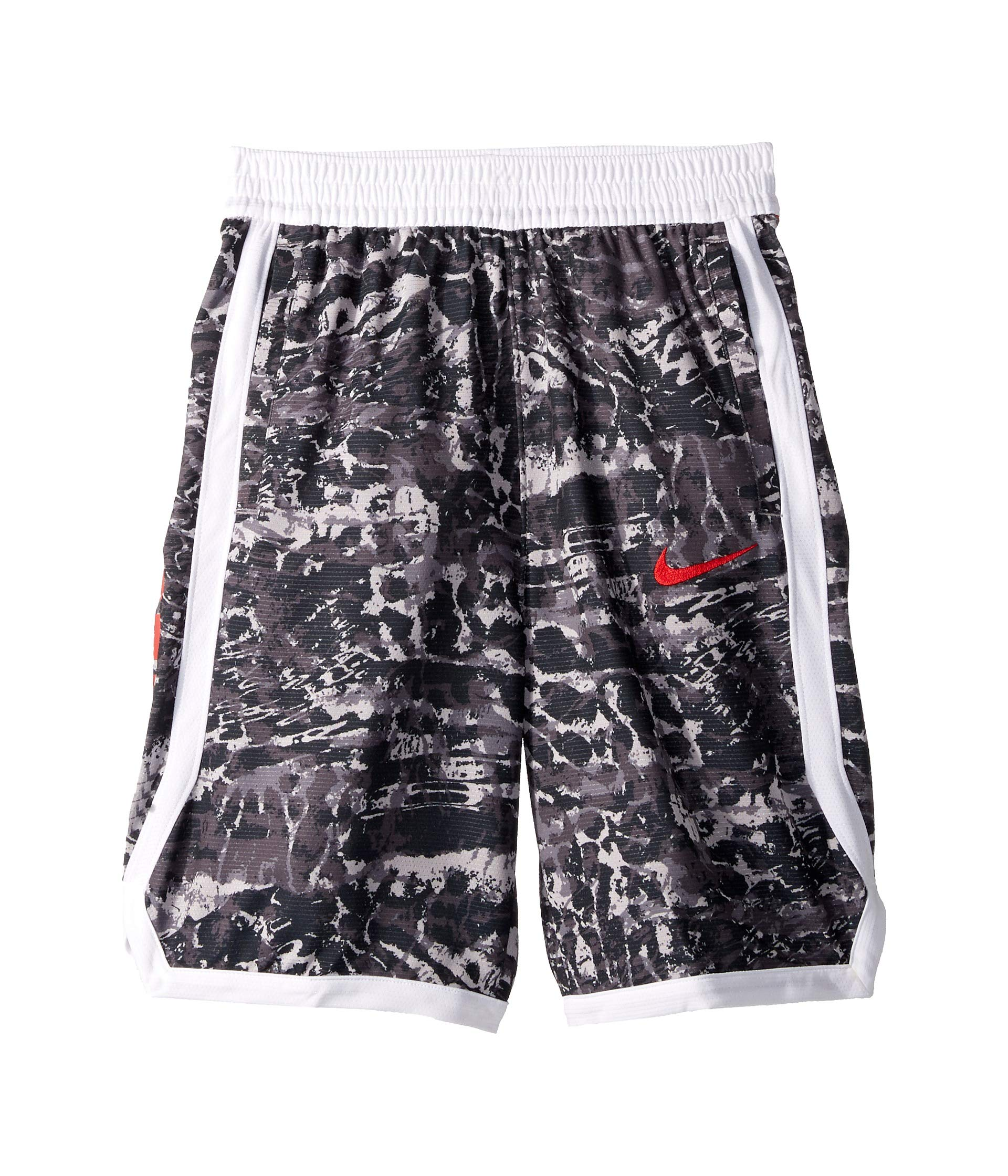 Nike Boy's Dri-FIT Elite Printed Basketball Shorts (Gunsmoke/White, X-Large) by Nike