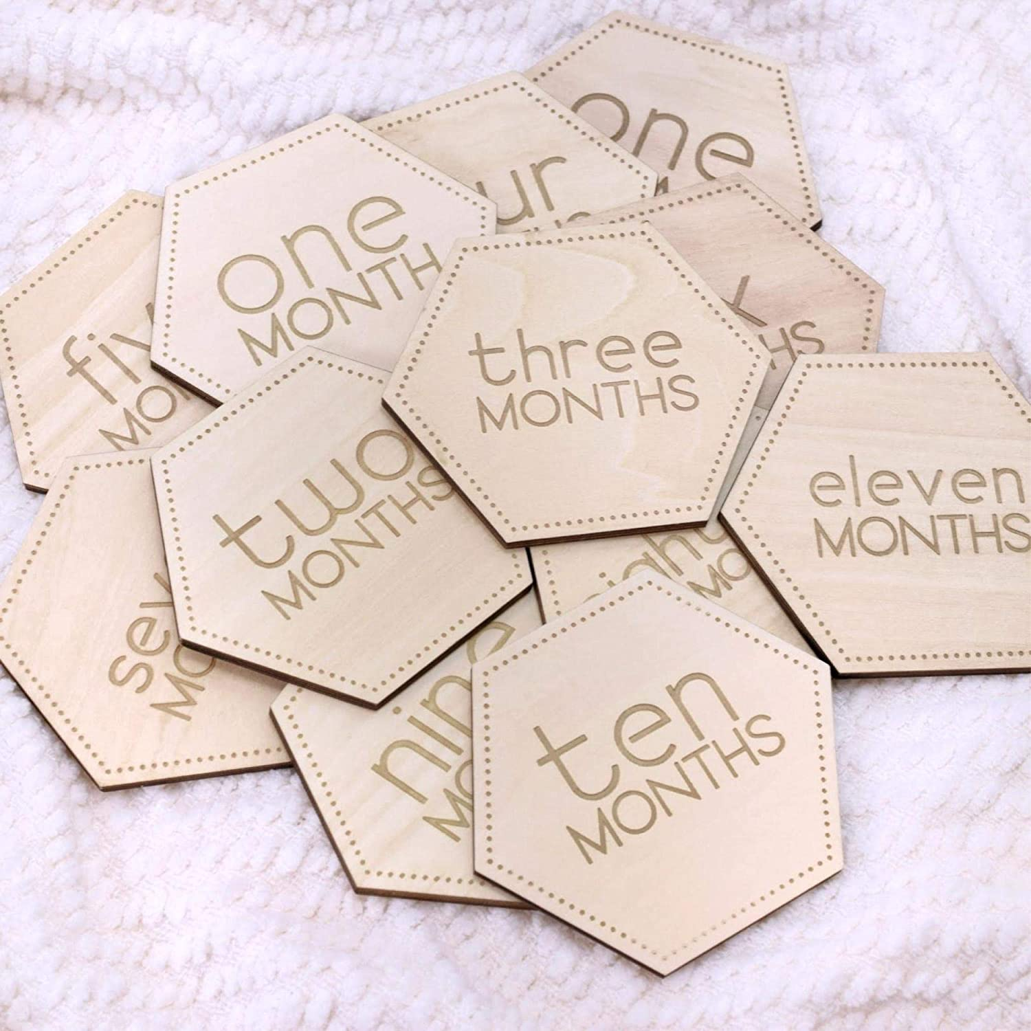 Baby Announcement Bee Themed Baby Monthly Milestone Cards Baby Milestone Blocks Etched Wooden Baby Milestone Cards Newborn Photo Prop