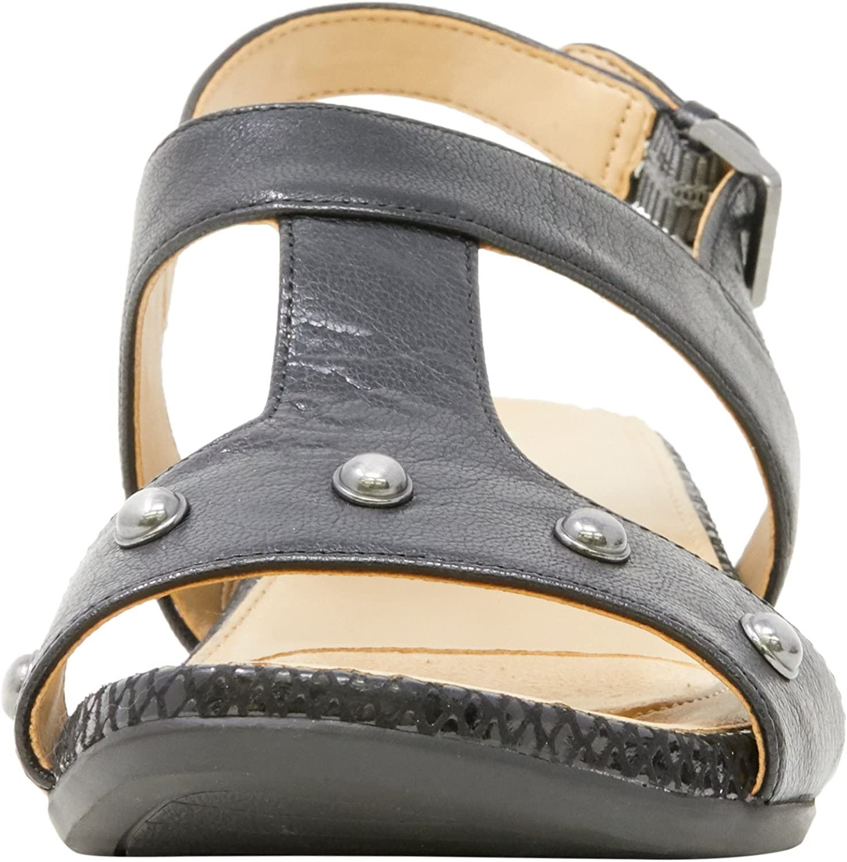 Naturalizer Women's Casual Comfort Leather Sandal Yardina Black (Black)
