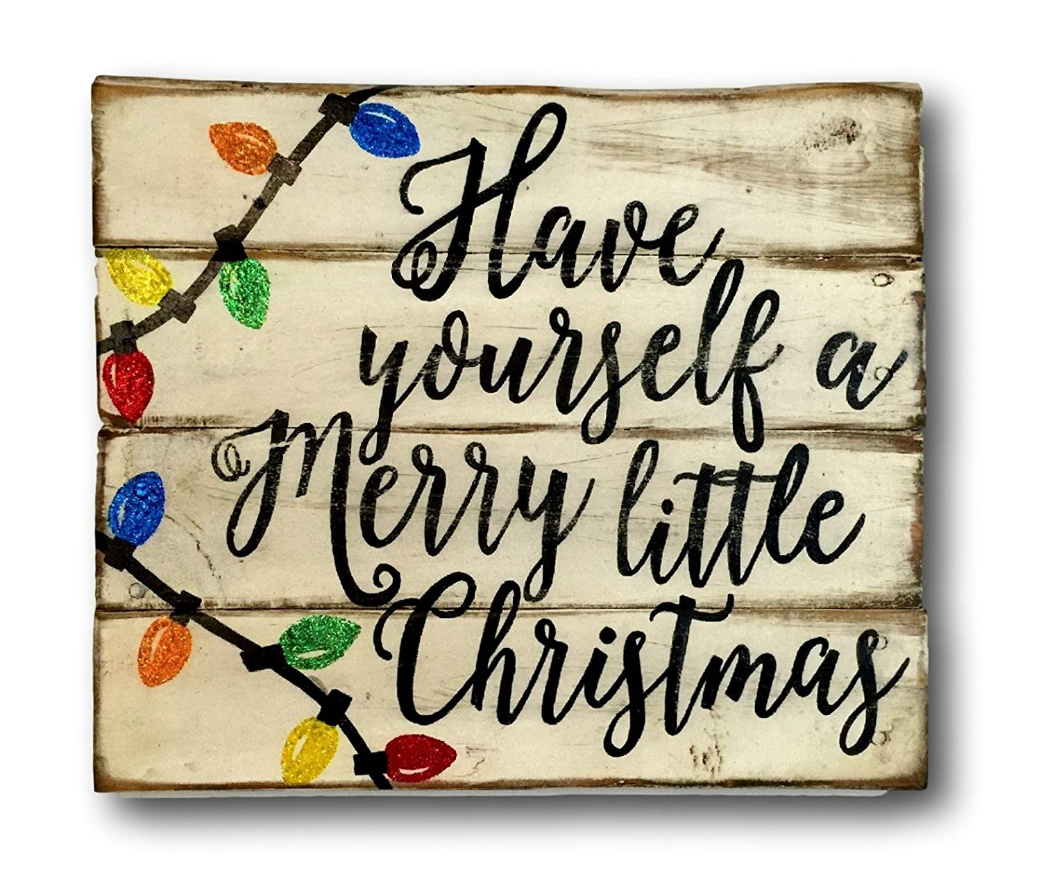 Attractive Christmas Signs Part - 2: Amazon.com: Have Yourself A Merry Little Christmas Wood Sign, Rustic Christmas  Sign, Vintage Christmas Decor: Handmade