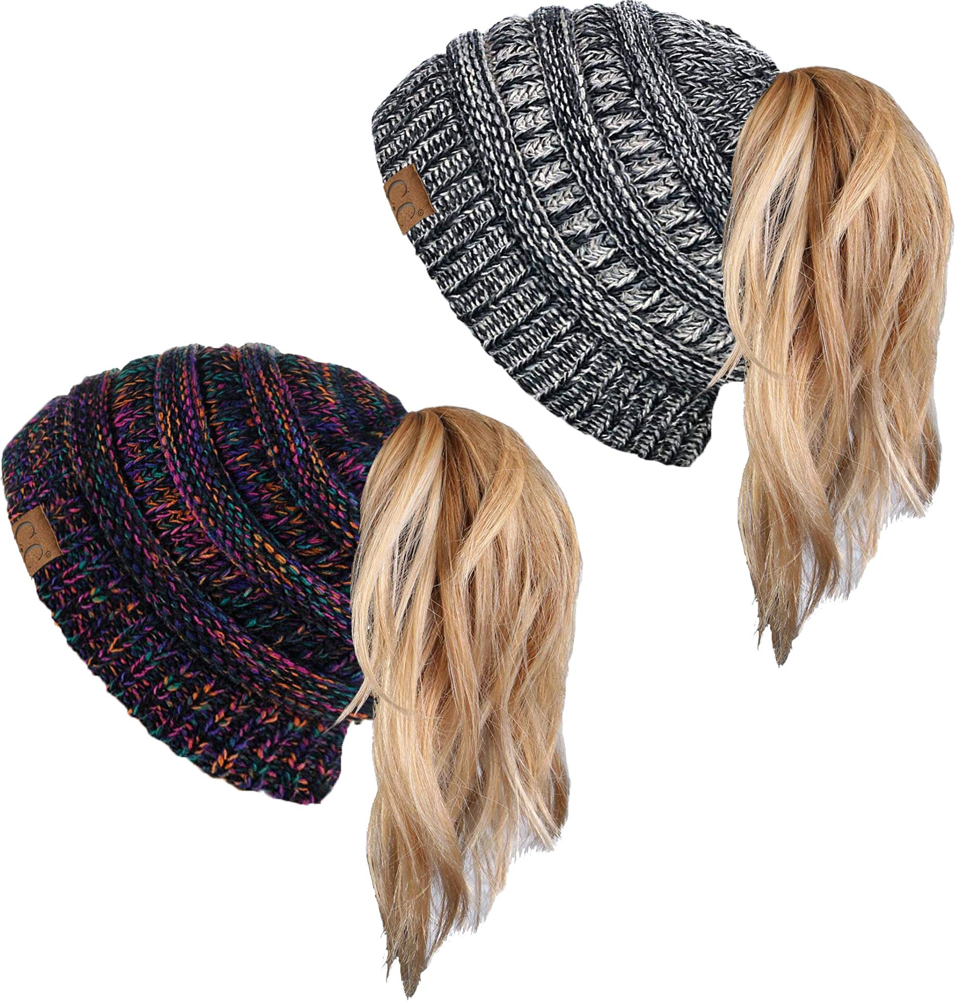 BT-6800-2-816.060821 Beanie Tail Bundle - 1 Kaleidoscope #32, 1 Grey #31 (2 Pack) by Funky Junque (Image #1)