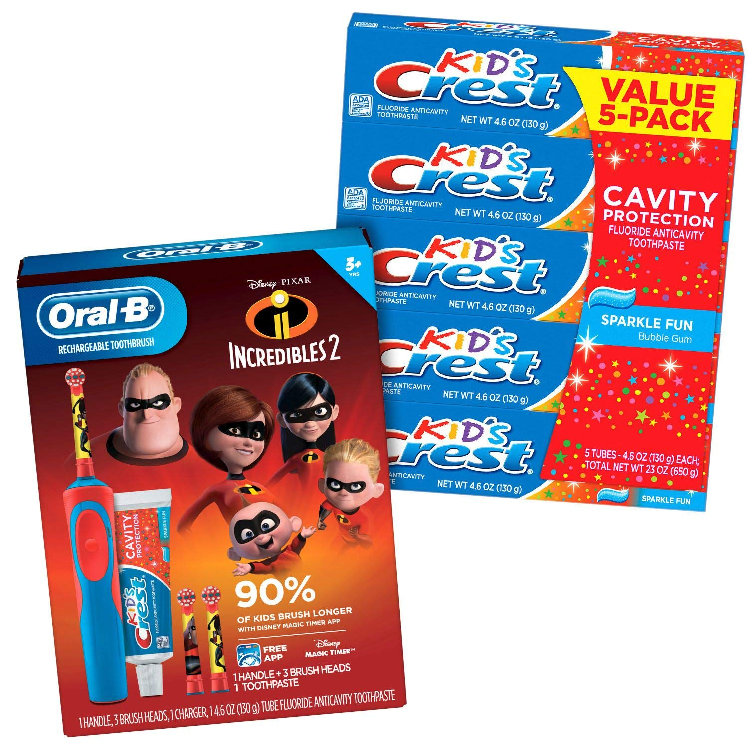 KIds-Oral-B Electric Rechargeable Power Toothbrush (Incredibles 2)