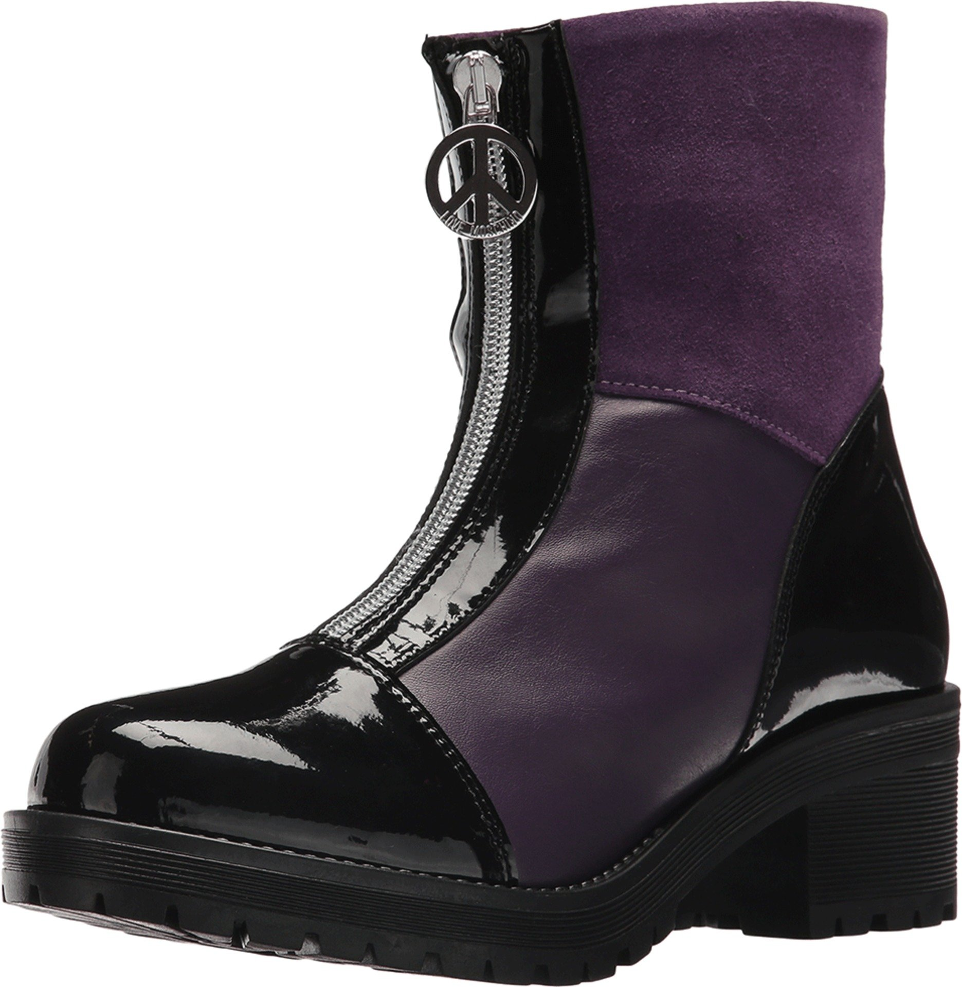 Love Moschino Women's JA24155G04JB165A Ankle Boot, Violet, 37 M EU (7 US)