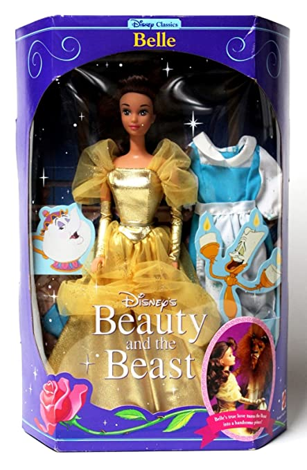 Amazon Disney Beauty And The Beast Gold Belle Doll Toys Games