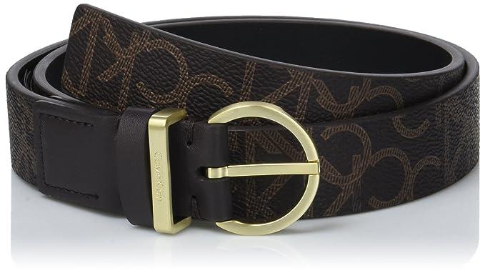 Calvin Klein Women s Marissa Monogram Belt 3.0cm (Brown 225), 100 ... 7f048b5bd03