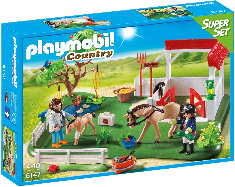 PLAYMOBIL 6147 - Super Set Koppel mit Pferdebox