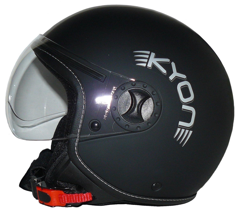 Amazon.es: Protectwear - Casco de cara abierta en diseño piloto H710 stripes - L