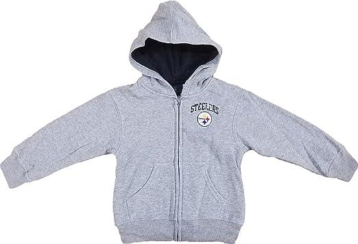 Pittsburgh Steelers quot Pledge quot  Grey Toddlers Full Zip Fleece Hoodie  ... b4cc7e4c2