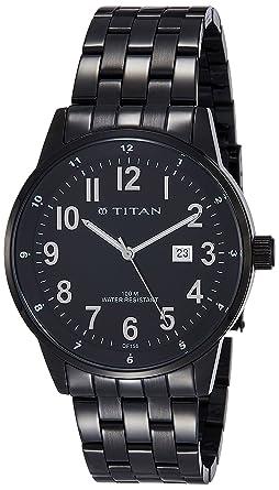 db5c5f02bbc Titan Black Dial Analogue Metal Watch for Men - 9441NM01J  Amazon.co.uk   Watches