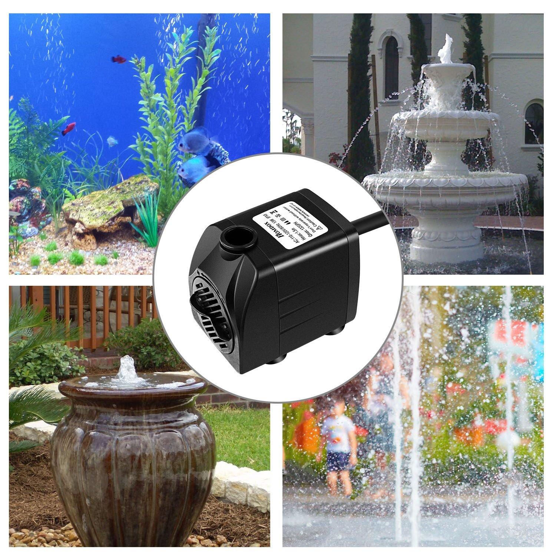 Homdox 132GPH Submersible Pump Fountain Water Pump for Aquarium Pond