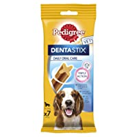 Pedigree Dentastix Daily Oral Care for Medium Dog of 10-25 kg, 180 g, Pack of 10 (Total 10 x 7 Sticks)